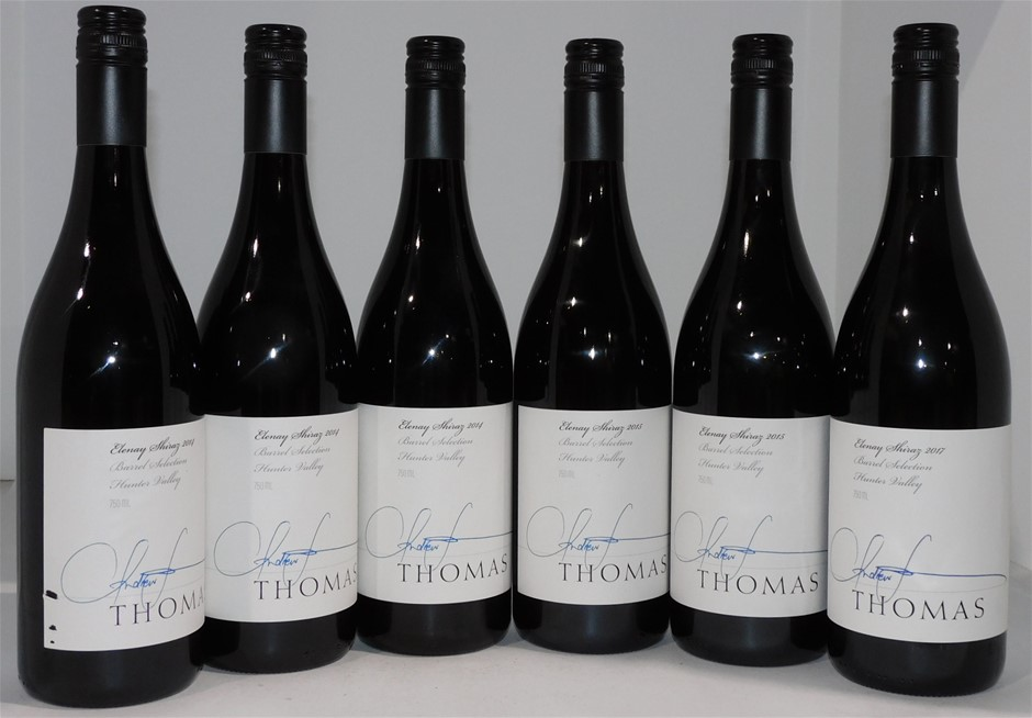 Mixed Thomas Wines Elenay Shiraz 2014/2015/2017 (6x 750mL), NSW