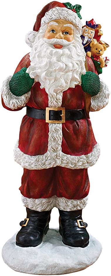 DESIGN TOSCANO EU28288 A Visit From Santa Clause Holiday Statue, Resin, Col