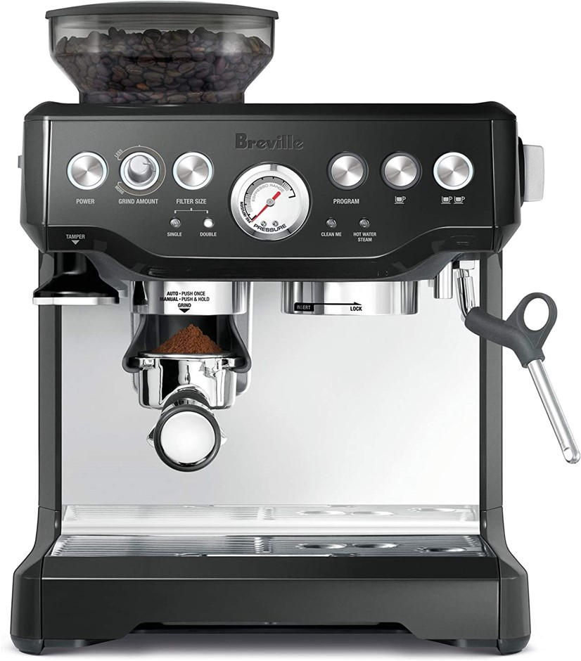 BREVILLE Barista Expresso Machine, Model BES870BKS, Colour: Black Sesame. (