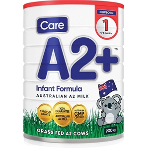Care A2 + Stage 1 Baby Formula (6x 900g)