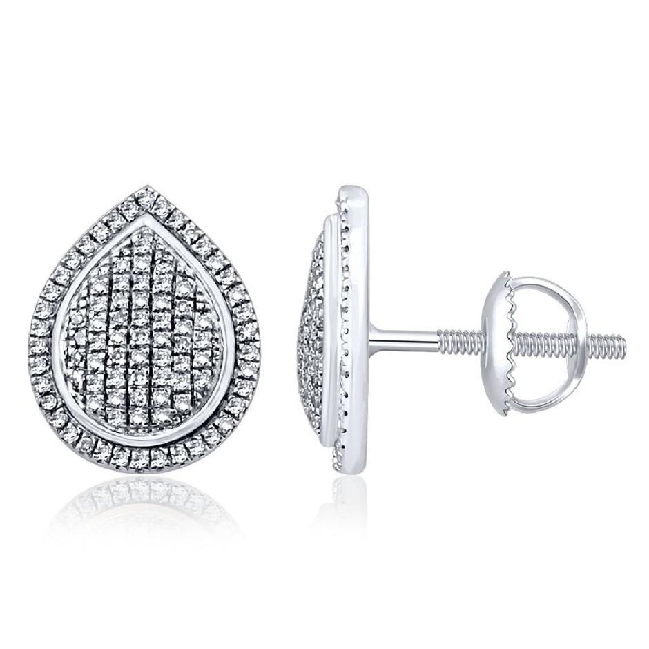9ct White Gold, 0.26ct Diamond Earring