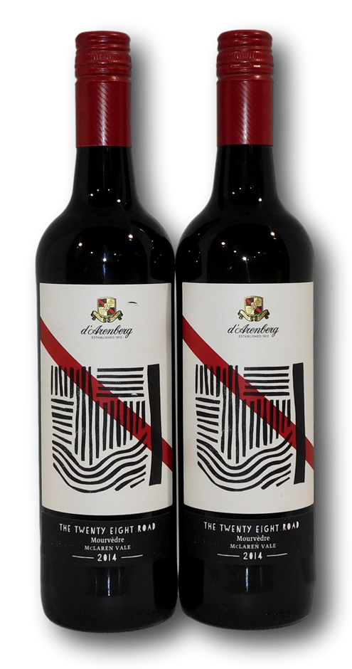 d'Arenberg The Twenty Eight Road Mourvedre 2014 (2x 750mL), McLaren Vale