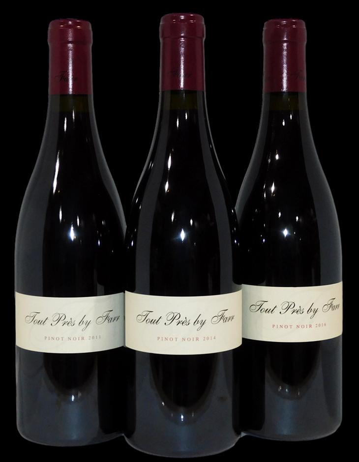 By Farr Tout Pres Pinot Noir 2011/2014/2016 (3x 750mL), VIC