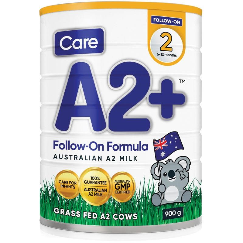 Care A2 + Stage 2 Baby Formula (6x 900g)