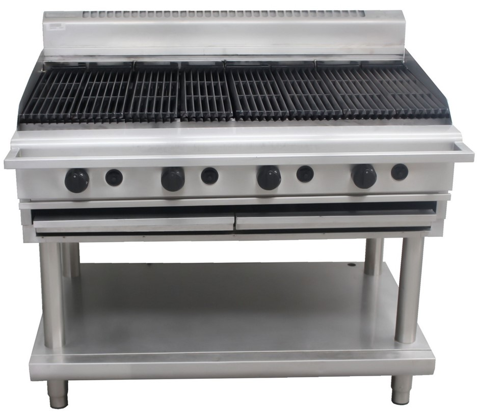 WALDORF 800 SERIES GAS 1200mm CHARGRILL