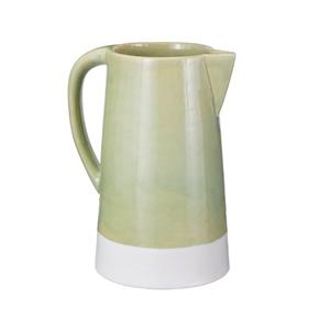 Ceramic Spring Crackle Pitcher Green (Si