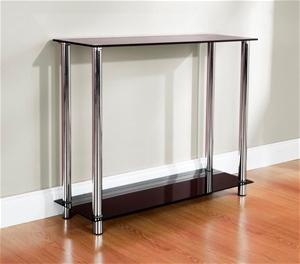 Buy Odyssey Console Table Black Glasschrome Frame Graysonline