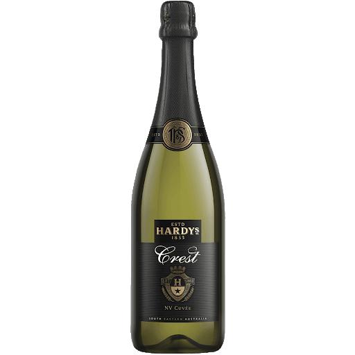 Hardys Crest Cuvee Sparkling Pinot Noir Chardonnay 2019 (12x 750mL)