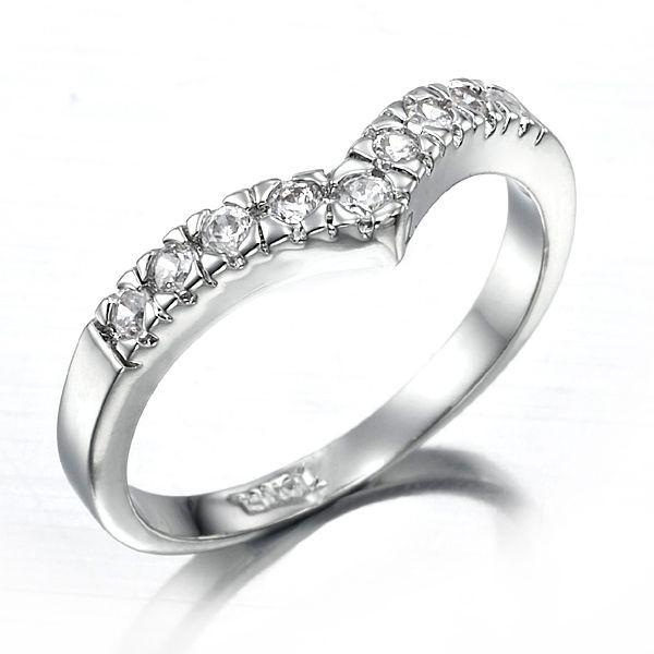 Stunning Rhodium Layered Simulated Diamond Ring - US Size 7
