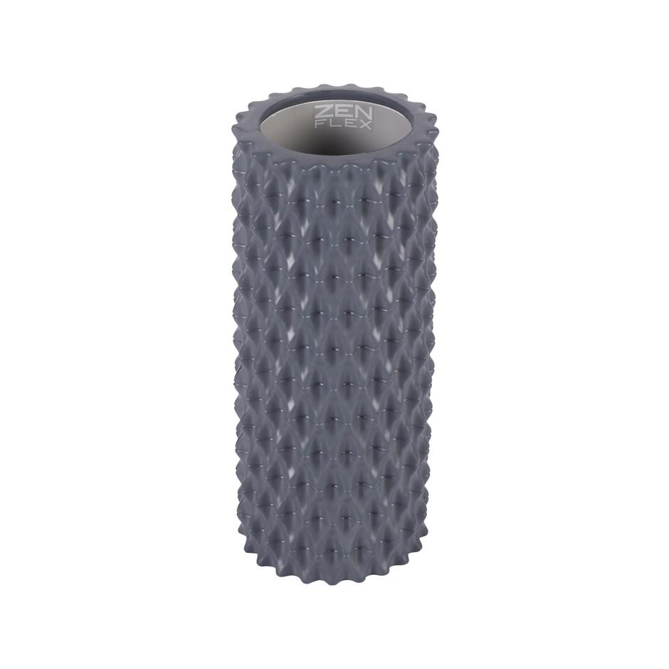 Zen Flex Fitness EVA foam Back Massage Yoga Roller - Grey - 14x14x33cm