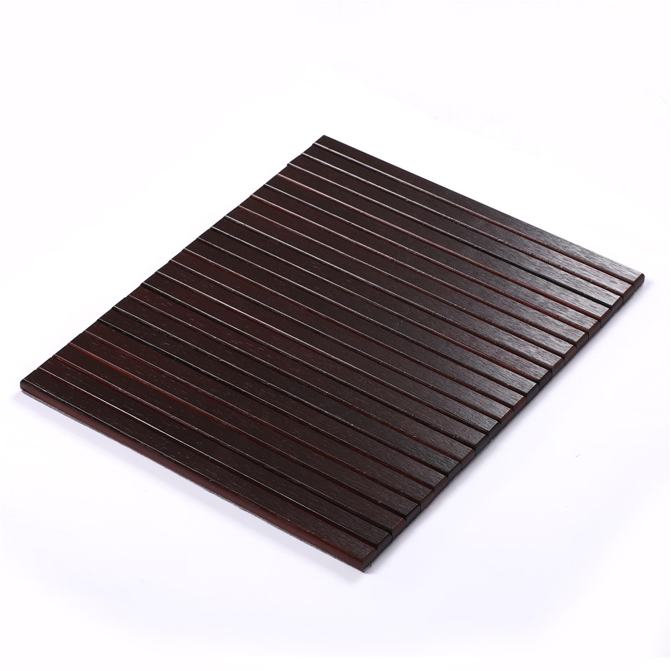 Sherwood Home Flexible Bamboo Sofa Armrest Tray-Non-Slip Base 42x33.5x1.2cm