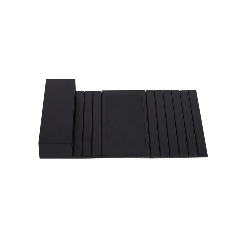 Sherwood Home Flexible Bamboo Sofa Armrest Tray with Organiser - 46x32x6cm