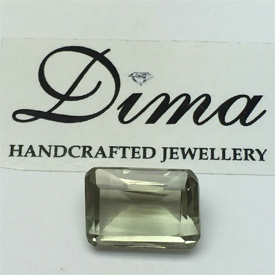 One Stone Green Amethyst Emerald Cut 9.20ct