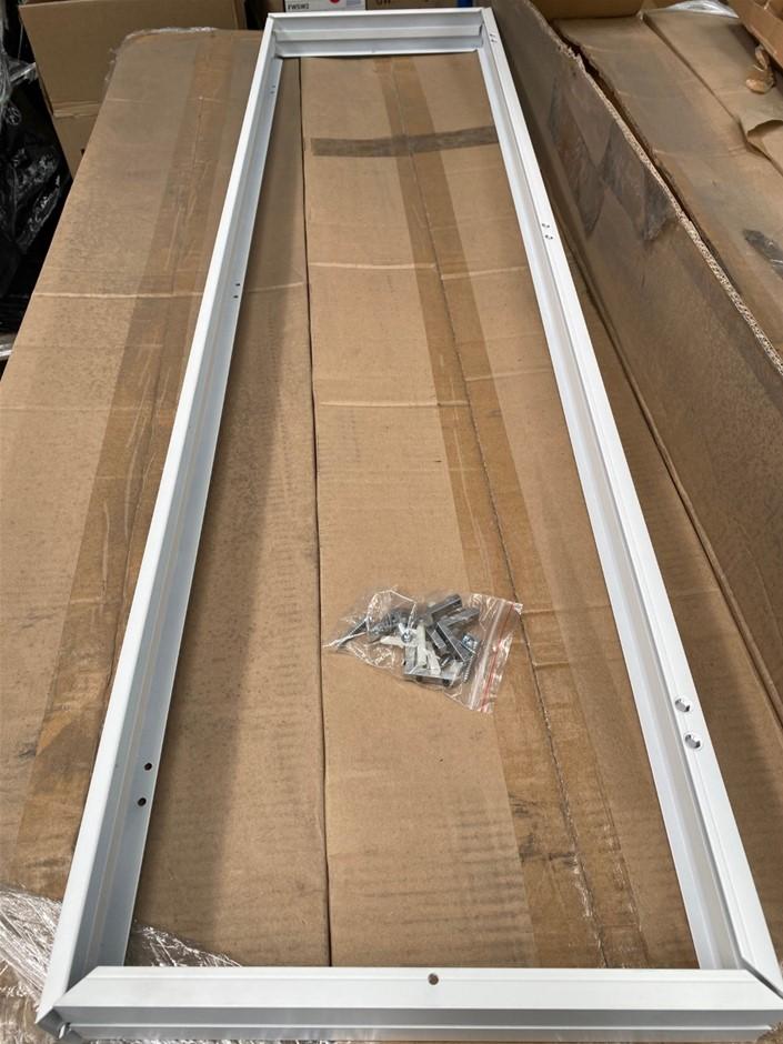 Surface Mounting Bracket Kit for LED Panel 1200x300mm White