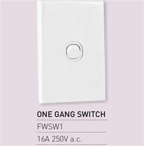 Qty 10 X Vynco Vertical Wall Light Switc