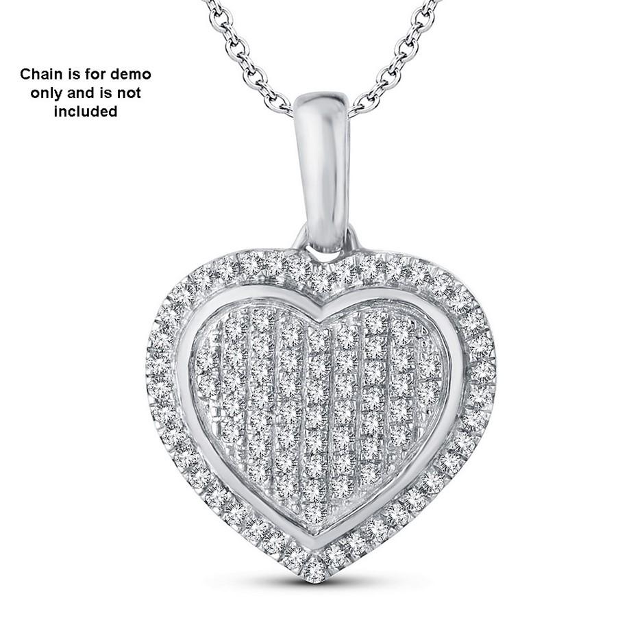9ct White Gold, 0.12ct Diamond Pendant
