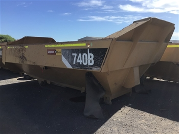 A qt of 2 Caterpillar 740B Dump Truck Tipper Body