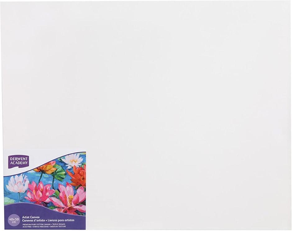 DERWENT(R) R310340F Academy Canvas, Thick 40 X 50cm,White