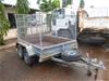 2013 Kessner 8x5 Tandem Caged Sides and Rear Trailer