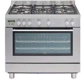 Euro 90cm Freestanding S/Steel Dual Fuel Oven, Model: EG900GDSX