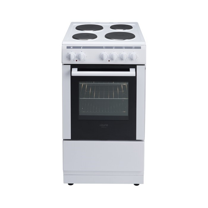 Euro 50cm freestanding white electric oven, Model: EV500EWH