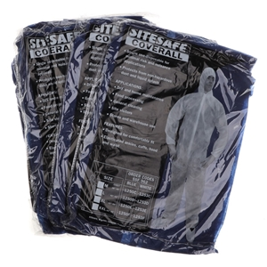 25 x SITESAFE Disposable Coveralls, Size