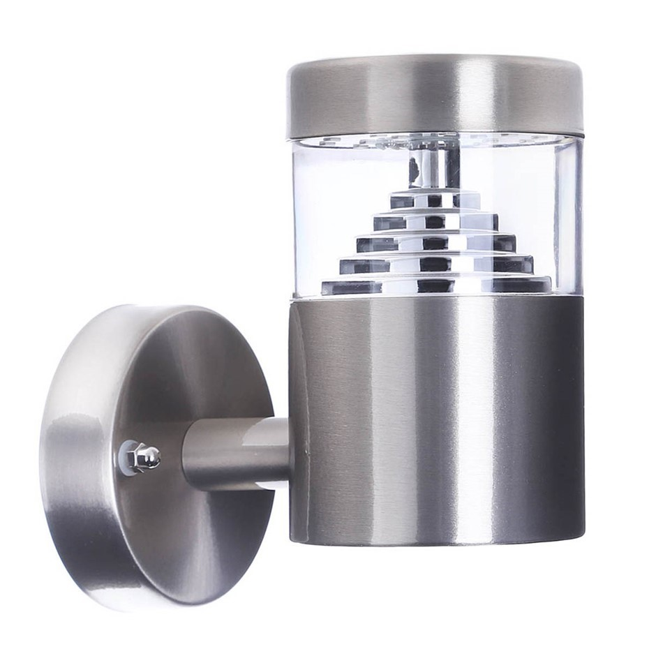 Outdoor LED Wall Light with Stainless Steel Body, 13.3 x 14cm, 4.5W, 500lm.