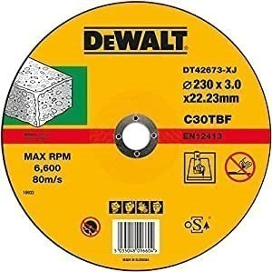 DeWALT Concrete/Stone Cutting Discs 230 x 3.0 x 22.23mm Buyers Note - Disco