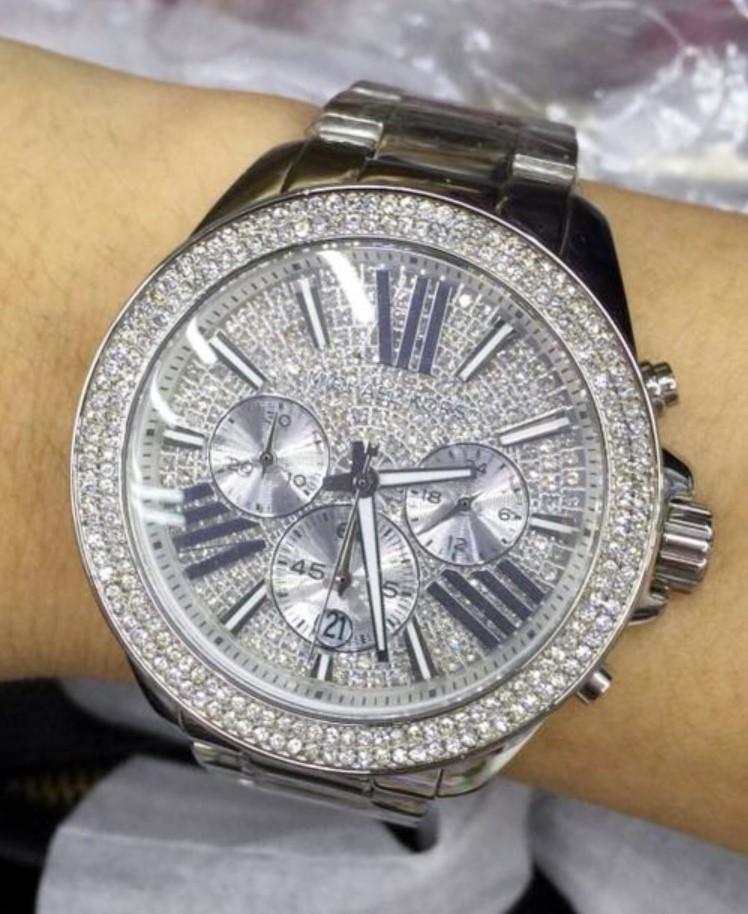 New Michael Kors 'Wren' diamante chrono watch. Wow!