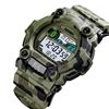 SKMEI MutiFuction Sports Wrist Watch, PU Band, Camo Green with Back Lightin
