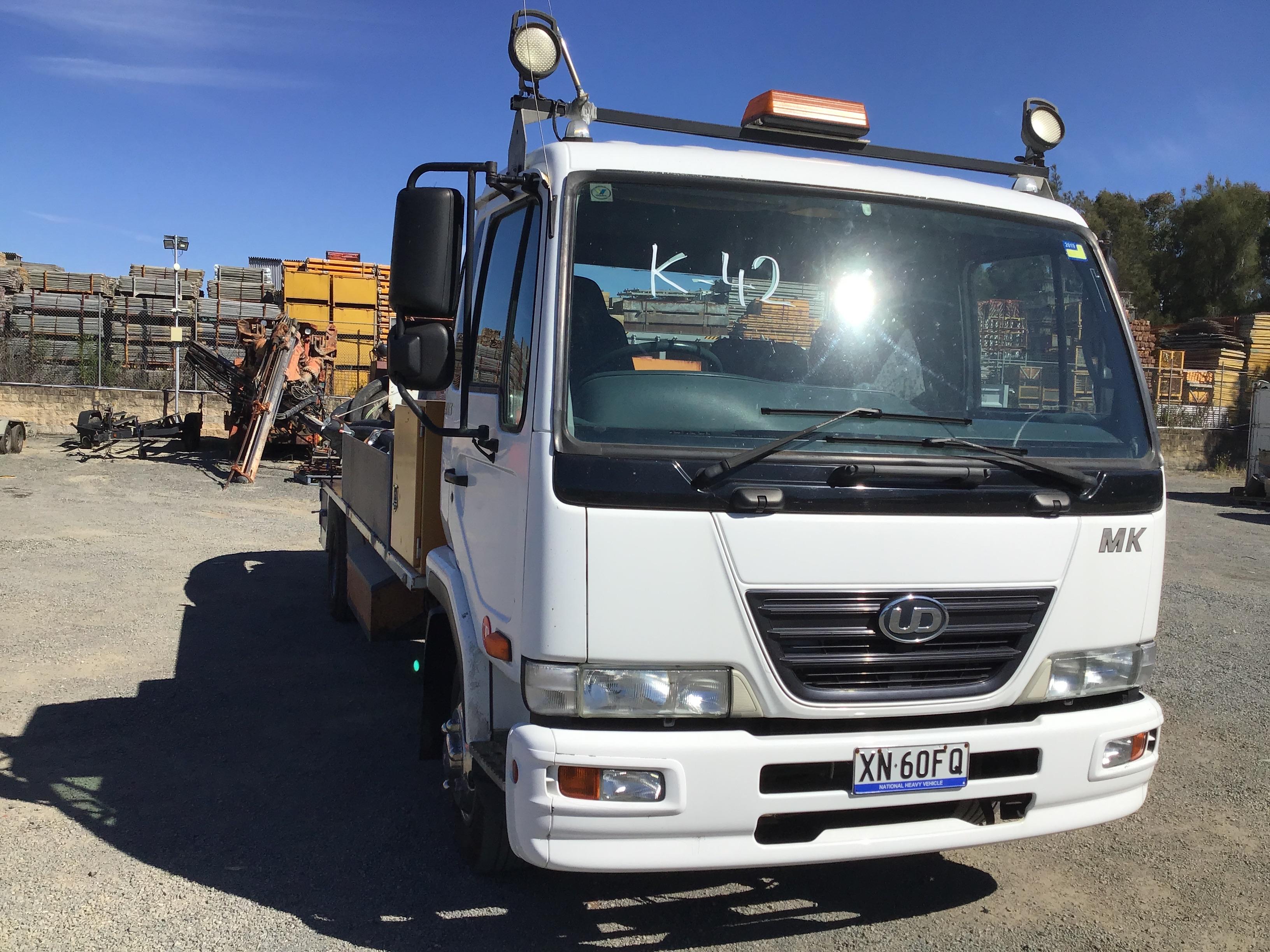 2010 NISSAN UD MK5 Manual Concrete Pump Truck
