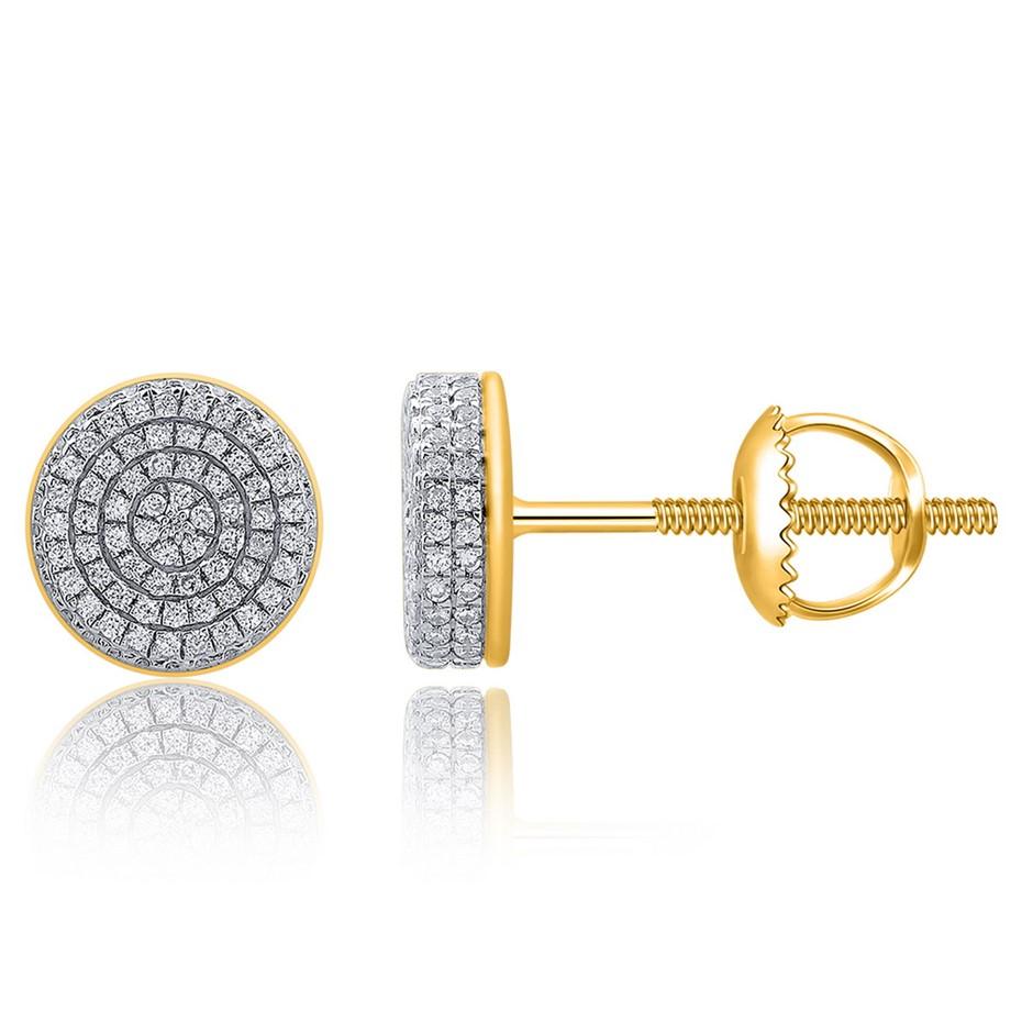 9ct Yellow Gold, 0.34ct Diamond Earring