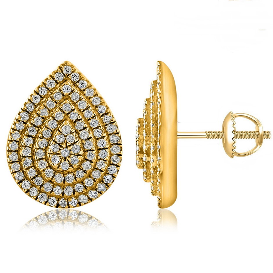 9ct Yellow Gold, 0.23ct Diamond Earring