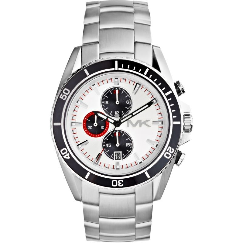 Sporty New Michael Kors Bradshaw Chronograph watch.