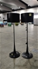2 x Black Standing Lamps