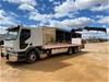 1998 Mack Premium 6 x 2 Tray Body Truck with Hiab