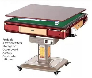 Foldable Automatic Mahjong Table with He