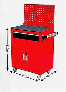 1-Drawer Lockable Mobile Tool Cabinet wi