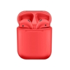 Wireless Bluetooth Earphones with Charging Case (Red)