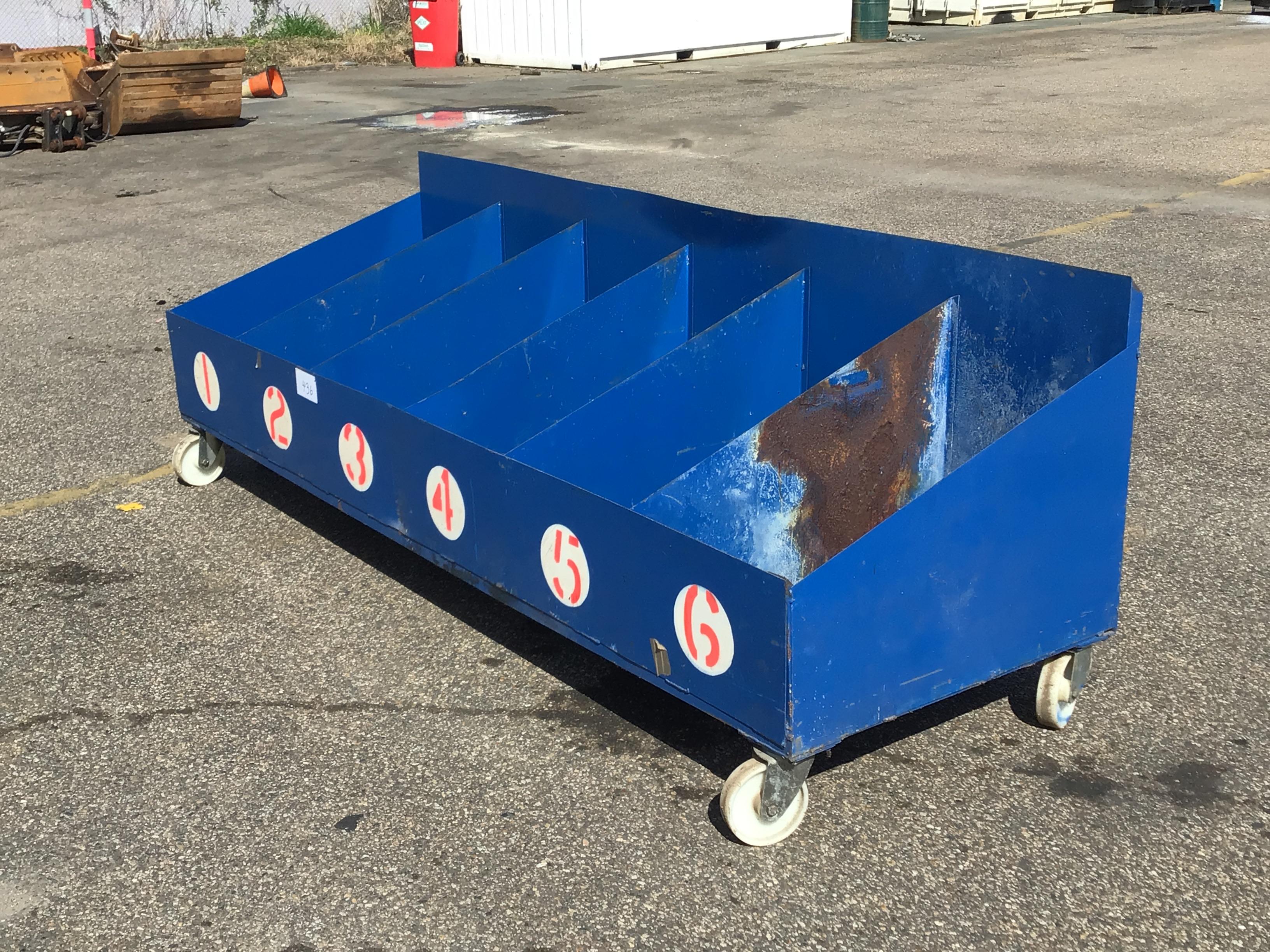 Metal Storage Bin on Casters