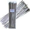 100 x Stainless Steel Cable Ties, Size 4.6mm x 350mm. Buyers Note - Discoun