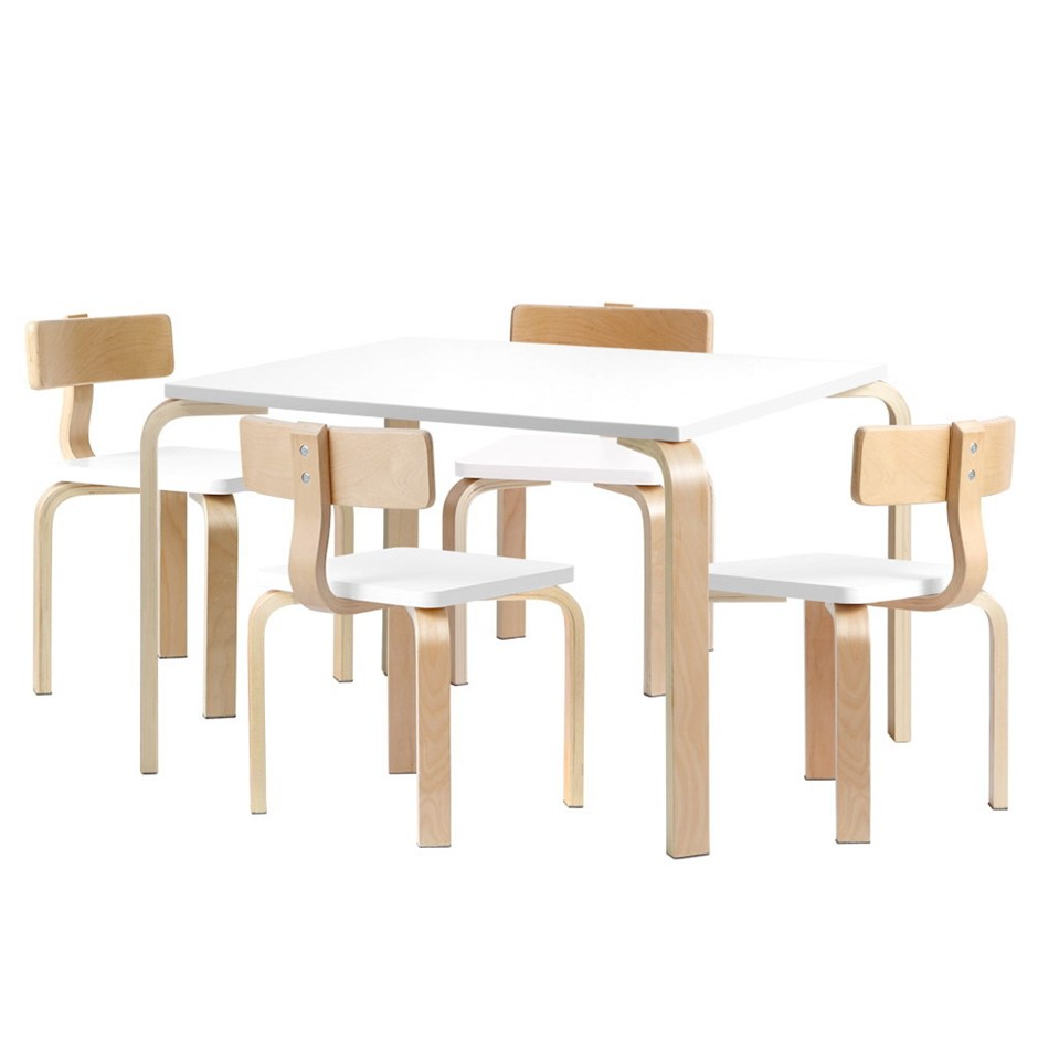 Keezi 5PCS Childrens Table and Chairs Set Kids Furniture Toy Dining Desk