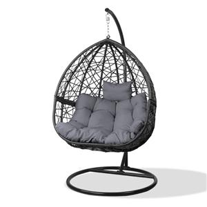 Gardeon Outdoor Hanging Swing Chair - Bl
