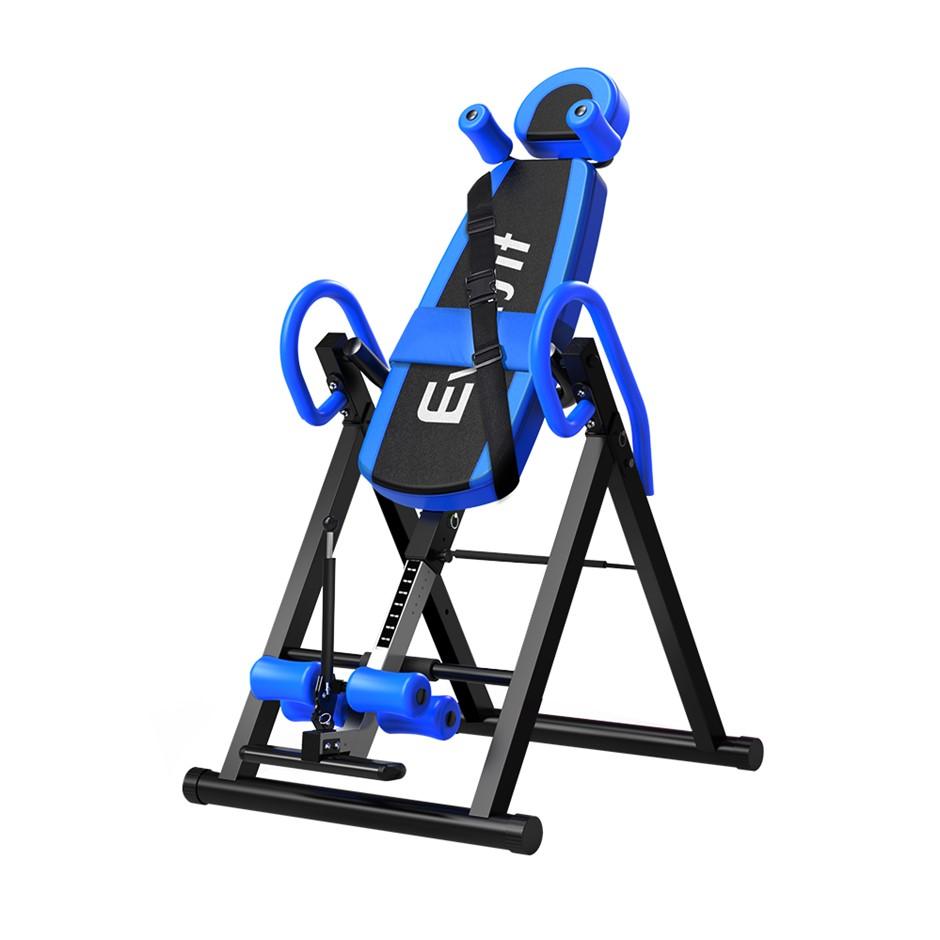 Everfit Gravity Inversion Table Foldable Stretcher Inverter Gym Fitness