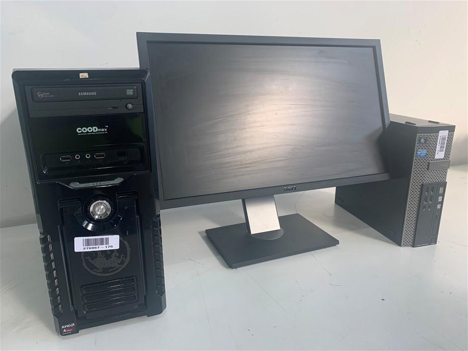 2x Desktop PC & 1x Dell Monitor