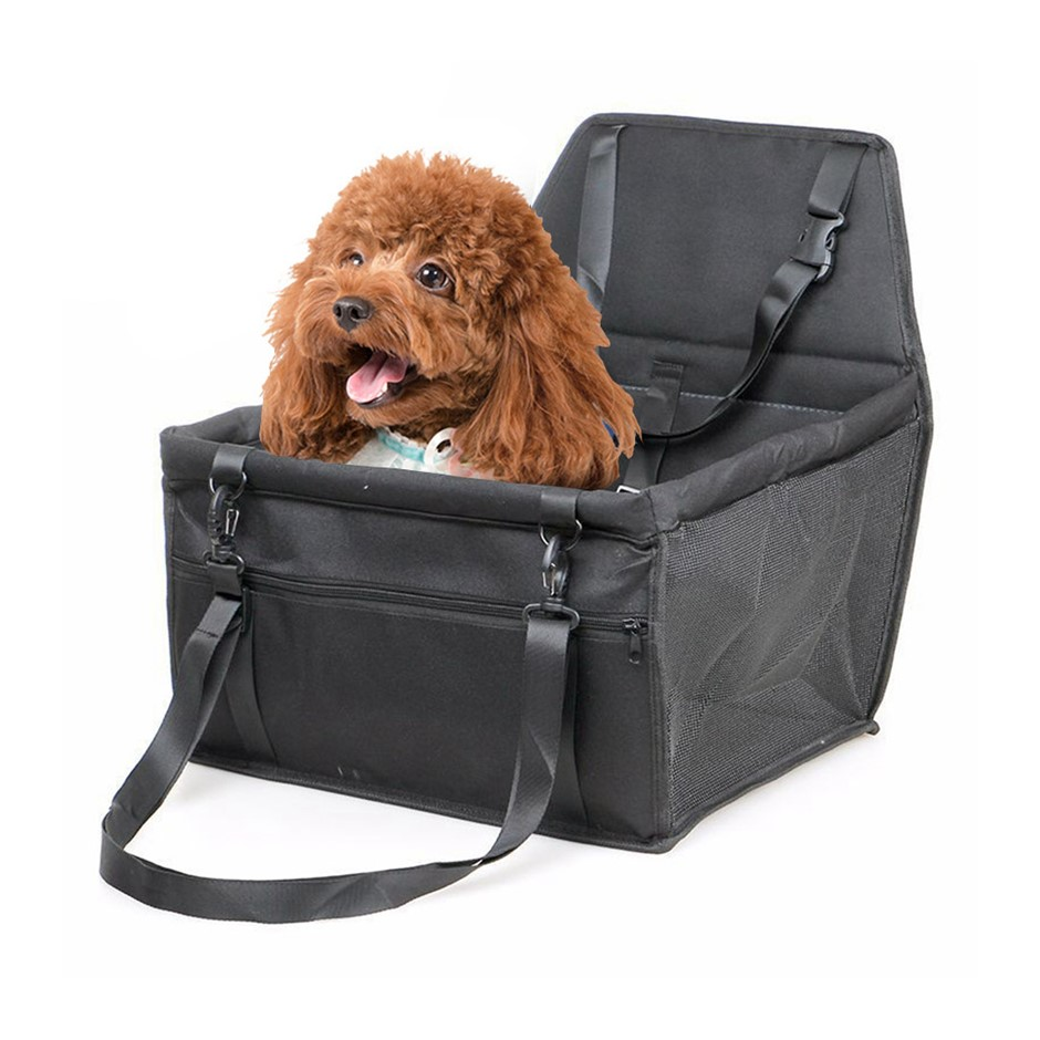 SOGA Waterproof Car Seat Pet Booster Black