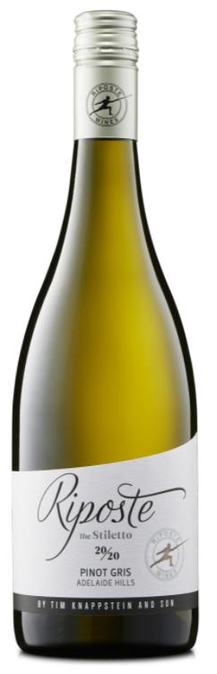 Riposte Stiletto Pinot Gris 2020 (12x 750mL). Adelaide Hills
