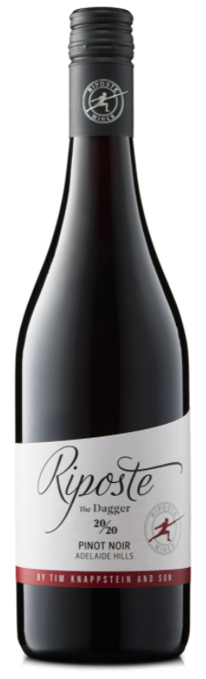 Riposte Dagger Pinot Noir 2020 (12x 750mL). Adelaide Hills