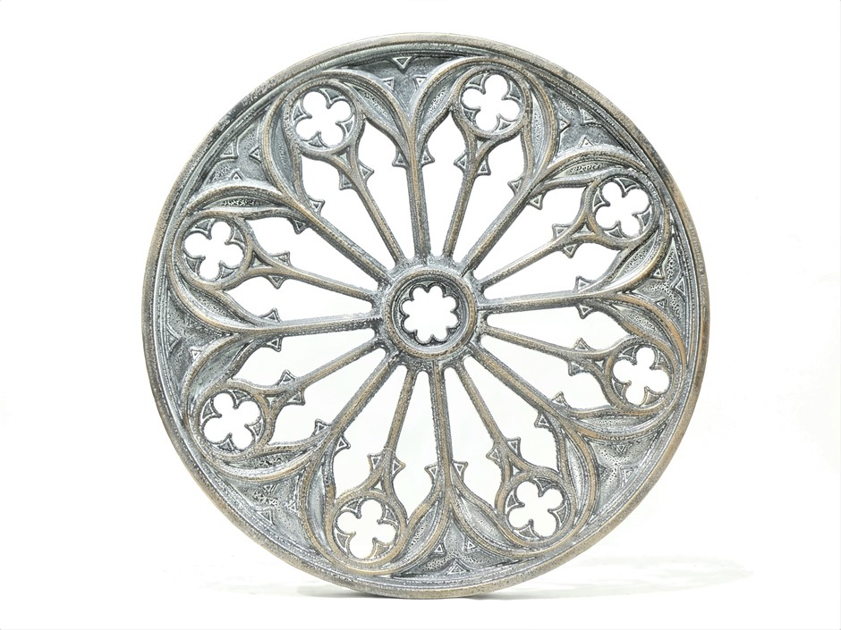 Moroccan Round Metal Wall Art - Blac