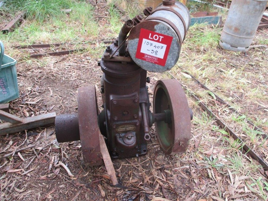 Wolseley Single Cylinder Petrol Engine